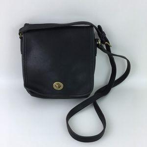 Vtg Coach 9076 Companion Black Crossbody Bag